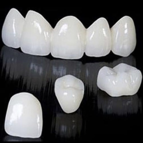 Zirconia crowns on a dark background
